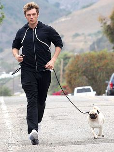 Photo of Nick Carter & his  Dog Mikey