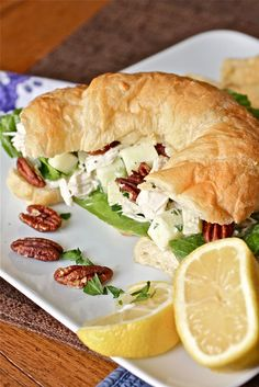 Apple Pecan Chicken Salad -- added about 2 Tbsp of sweet relish