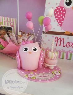 diseñarlin cumpleaños temáticos y originales mendoza argentina: Buho Biscuit, Jumping Clay, Ideas Para Fiestas, Pasta Flexible, Polymer Clay Creations, Cute Owl, Cold Porcelain, Clay Crafts, Decoration