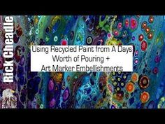 Recycled Overflow Paint and Remainder of the work day Paint Cup Usage Finished with Art Markers - YouTube