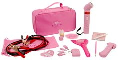 Pink Car Accessory Essentials Set <-- This but not pink :/