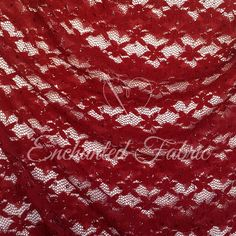 Red BRIDAL LACE Fabric with red specks Floral by EnchantedFabric  #Prom #PromFabric #PromDressFabric #Wedding #WeddingFabric #WeddingLace #BridesmaidLace