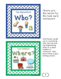 Writer's Block Task Cards - Common Core - This is a writing center activity designed to help kiddos get a jump start in their writing. $