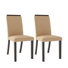 CorLiving Bistro Dining Chairs, Set of 2, Cappuccino/