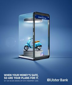 banking advertising Ulster Bank Print Advert By Boys + Girls: Protect Your Plans - Holiday, Scooter Creative Poster Design, Ads Creative, Creative Posters, Creative Advertising, Graphic Design Posters, Graphic Design Inspiration, Banks Advertising, Print Advertising, Print Ads