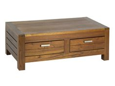 Mesa centro de madera con cajones Ohio