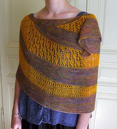 Inner Smile by Kristina Vilimaite, knitted by petitstricots | malabrigo Silkpaca in Piedras and Sunset