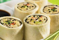 Make shrimp and avocado sushi rolls for your next potluck dinner