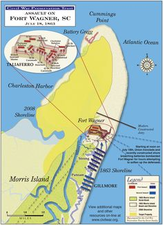 Civil War Battle Maps of Charleston SC harbor! Maps show Fort Sumter, Fort Moultrie, Fort Johnson, waterways and other local batteries. See our Revolutionary War maps from Charleston SC too! American Revolutionary War, American War, Battle Of Cold Harbor, Siege Of Petersburg, Morris Island, Civil War Books, Fort Sumter, America Civil War, Civil War Photos