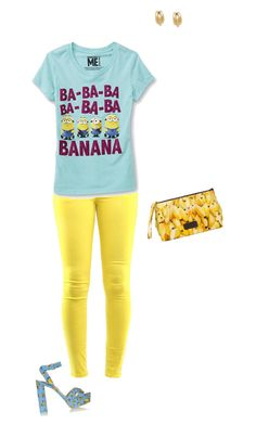 """""""Banana!!!!!!!!!!!"""" by hjpnosser ❤ liked on Polyvore featuring Sophia Webster and Blue Man"""