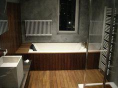 wooden bathroom Home Room Design, Wooden Bathroom, House Rooms, Bathtub, Wood Bathroom, Standing Bath, Bathtubs, Bath, Bath Tub