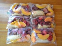 Make frozen smoothie packets every Sunday for the whole week - OMG! This is genius! | ruggedthugruggedthug