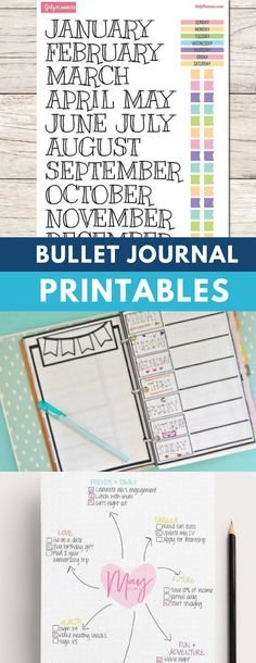 No time (or creative energy) to replicate all of the amazing bullet journal layouts you've been drooling over? Check out these bullet journal printables that you can use to fill your BuJo! Bullet Journal October, Bullet Journal Printables, Bullet Journal How To Start A, Bullet Journal Junkies, Bullet Journal Spread, Bullet Journal Layout, Bullet Journal Inspiration, Bullet Journals, Planner Organization