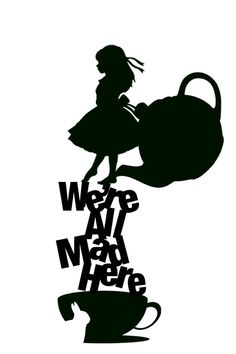 disney alice in wonderland silhouette Silhouette Cameo, Machine Silhouette Portrait, Silhouette Projects, Disney Silhouette Art, Dragon Silhouette, Disney Silhouettes, Lewis Carroll, We All Mad Here, Alice In Wonderland Party