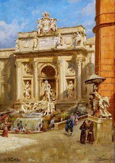 Wuttke a Carl (1849-1927) Fontane di Trevi, 1912