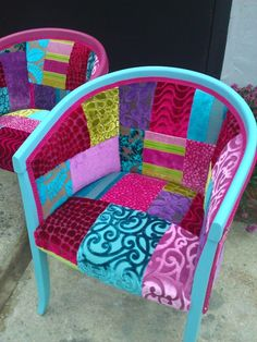 Patchwork chair by Katie Moore designers guild fabrics