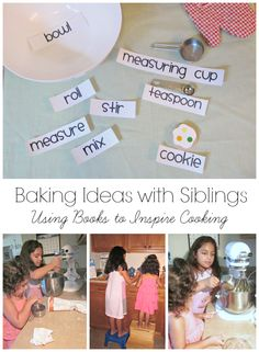 {Baking Ideas with Siblings} *Inspired by Books