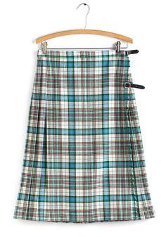 Vintage Tartan Sweet Skirt, @ModCloth