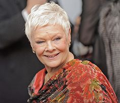 I love the way Dame Judy Dench is wearing her hair.  I'm going to get my bangs trimmed like this next time.
