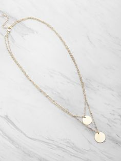 To find out about the Coin Fringe Detail Delicate Double Layer Necklace at SHEIN, part of our latest Necklaces ready to shop online today! Jewelry Necklaces, Gold Necklace, Pendant Necklace, Bracelets, Coin Pendant, Statement Necklaces, Jewellery, Double Layer Necklace, Necklace Online