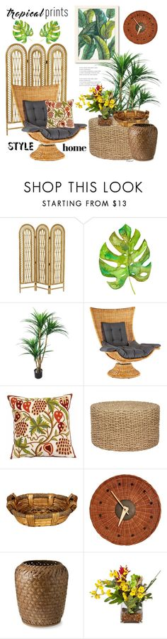 """""""Tropical Style"""" by hastypudding ❤ liked on Polyvore featuring Americanflat, Dot & Bo, George Nelson and Williams-Sonoma"""