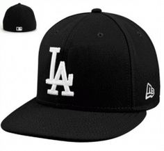best loved 2f823 6e88f L.A. Dodgers New Era White on Black League Basic Fitted Hat  32.95 NOW   24.69 Save