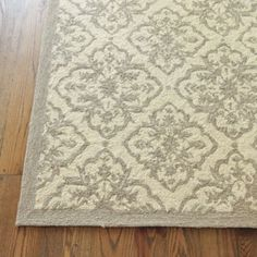 Deville Indoor Outdoor Rug  | Rugs | Ballard Designs - love it, but with gray walls i may need more color.
