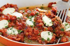 Veal with tomato, sage and bocconcini