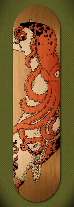 Skateboard design by Vaclav Bicha.  http://www.behance.net/ondanana
