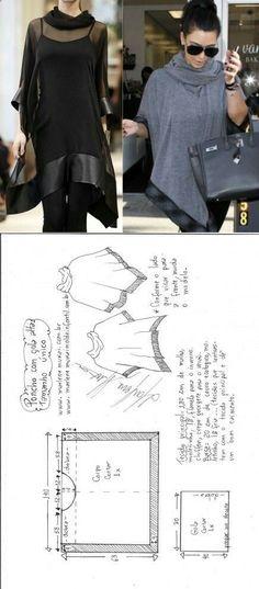 Poncho cloak stitch... Deniz