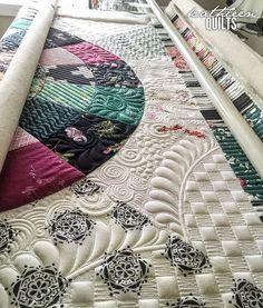 Working on my own quilt tonight :) #lavishfabrics #artgalleryfabrics #longarmquilting #apqscanada #apqslucey