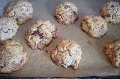 Gluten free brown cookies with chocolate chips and nuts