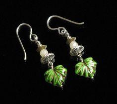 Green Leaf Earrings  Boho Earrings  Boho Jewelry by mindfulmatters