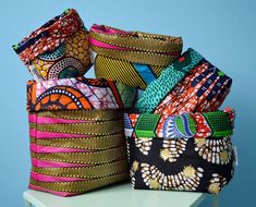 44 Ideas For Basket Diy Fabric Storage African Crafts, African Home Decor, African Interior Design, African Design, African Style, African Textiles, African Fabric, Home Decor Dyi, African Accessories
