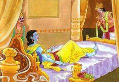 Lord Krishna, Arjun & Duryodana
