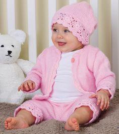 FREE PATTERN...Sweet Layette Baby SetSweet Layette Baby Set