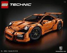 Yesterday LEGO did a teaser for LEGO Technic Porsche 911 RS and today they have officially announced the set. Porsche 911 Gt3, Lego Porsche, Porche 911, Porsche Motorsport, Legos, Porsche Replica, Technique Lego, Lego Technic Sets, Lego Kits
