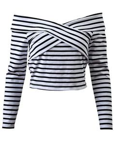 SHARE & Get it FREE   Striped Off Shoulder Front Criss T-ShirtFor Fashion Lovers only:80,000+ Items • New Arrivals Daily Join Zaful: Get YOUR $50 NOW!