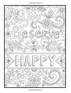 Amazon Inspirational Quotes An Adult Coloring Book With