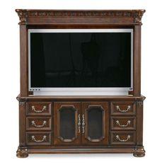 Granada TV Stand with Panel in Cordillera Pine | Nebraska Furniture Mart