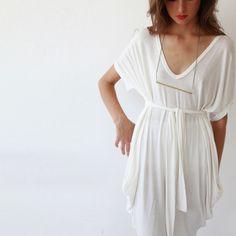 Short Sleeve Tunic jn White