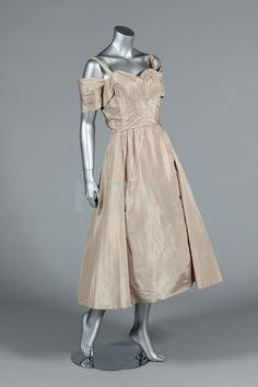 Vintage 1950s Ceil Chapman champagne cocktail dress