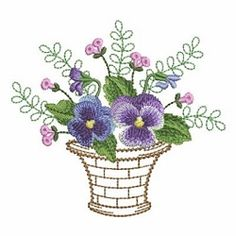 Baskets of Blooms 8 - 2 Sizes! | What's New | Machine Embroidery Designs | SWAKembroidery.com Ace Points Embroidery