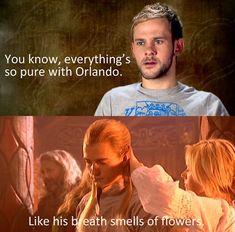 Lotr Funny | funny-LOTR-Orlando-Bloom-breath-smells-flowers