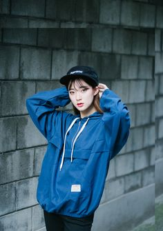Zip-Front Hoodie   MIX X MIX   Shop Korean fashion casual style clothing, bag, shoes, acc and jewelry for all