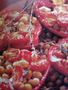 Slow Roasted Red Peppers. Green Seasons cookbook. Rachel Demuth. p124