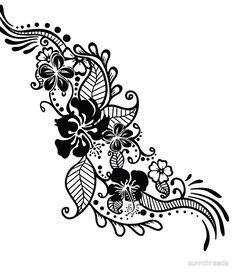 03b28867 Hibiscus Tribal Threads Hibiscus, Classic T Shirts, Mini Skirts, Realism  Tattoo, Tattoos