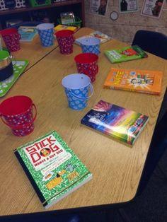 Reading Motivation ideas (book raffle and author spotlight) from 4th Grade Frolics