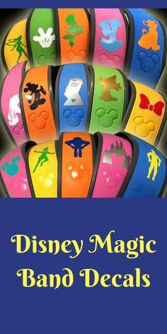 Disney MagicBand Monogram Initial Vinyl Decal Personalized - Magic band vinyl decals