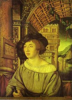 Portrait of a Young Man - Hans Holbein the Younger. Oil, wood, tempera